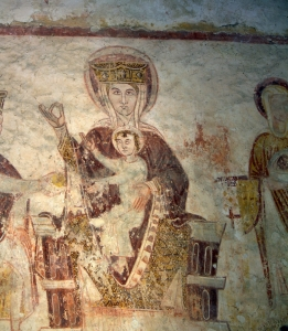 Patrimoine d'Asnières, Vierge, Adoration des mages, Mur nord, © APA