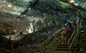 La Mine bleue, Chambre dite cathédrale, ©La Mine bleue