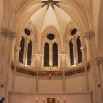 Conception lumière de l'Abbaye Ste Cécile de Solesmes (72) - Crédit Photo JP Ropers