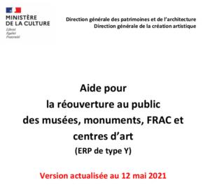 Réouverture-musées-monuments-centres d'art-ERP-Y_12 mai 2021